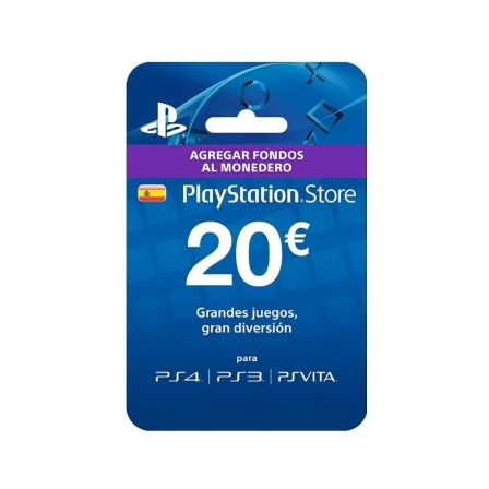 Tarjeta Prepago Sony 20 Euros para PS4/ PS3/ PSVita