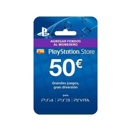 Tarjeta Prepago Sony 50 Euros para PS4/ PS3/ PSVita