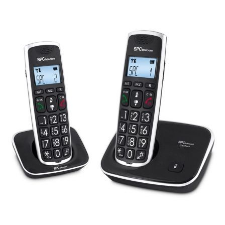 Teléfono Inalámbrico SPC Comfort Kaiser 7609N/ Pack DUO/ Negro