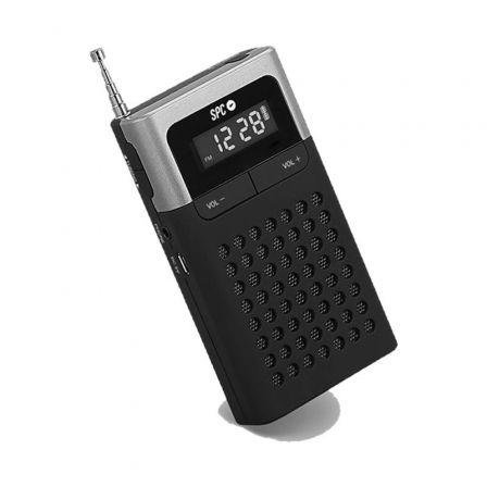 RADIO SPC ICY PRO - ALMACENA 50 EMISORAS - PANTALLA LCD - ANTENA TELESCÓPICA - CONEXIÓN AURICULARES 3.5MM - BATERÍA RECARGABLE/PILAS AAA