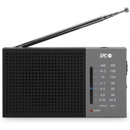 RADIO SPC JETTY LITE - FM/AM - ANTENA TELESCÓPICA - CONTROL DE VOLUMEN - CONEXIÓN AURICULARES 3.5MM - RED+PILAS AA