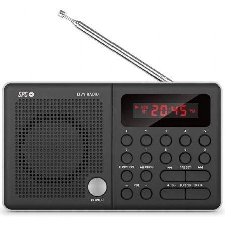 Radio Portátil SPC LIVY/ Negra