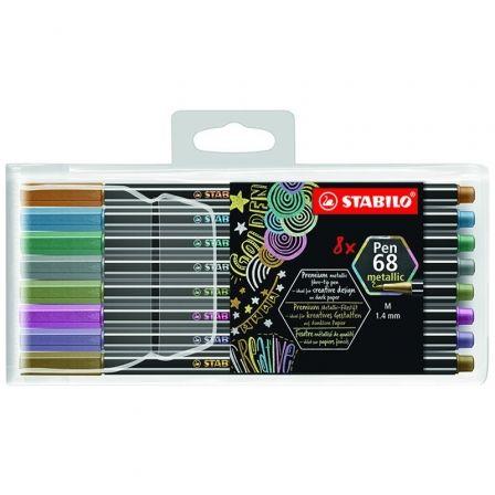 Rotuladores Stabilo Pen 68/ 8 unidades/ Colores Metálicos