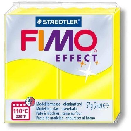 Pasta de Modelar de endurecimiento al Horno Staedtler FIMO Leather Effect/ 57g/ Amarillo Neón