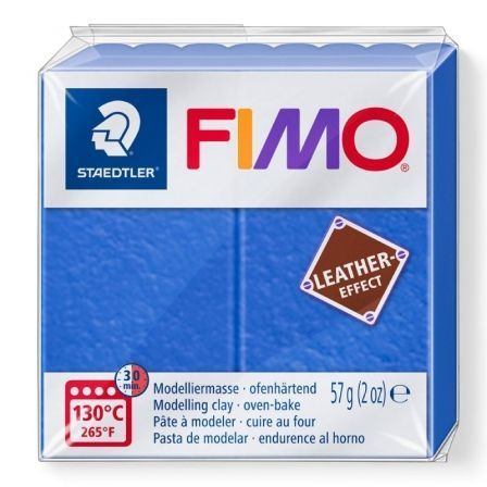 Pasta de Modelar de endurecimiento al Horno Staedtler FIMO Leather Effect/ 57g/ Índigo