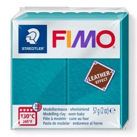 Pasta de Modelar de endurecimiento al Horno Staedtler FIMO Leather Effect/ 57g/ Laguna