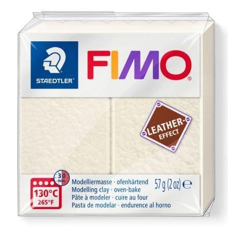 Pasta de Modelar de endurecimiento al Horno Staedtler FIMO Leather Effect/ 57g/ Marfil