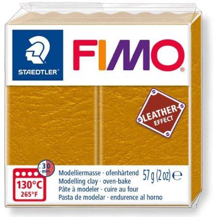 Pasta de Modelar de endurecimiento al Horno Staedtler FIMO Leather Effect/ 57g/ Ocre
