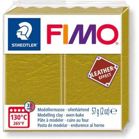 Pasta de Modelar de endurecimiento al Horno Staedtler FIMO Leather Effect/ 57g/ Oliva