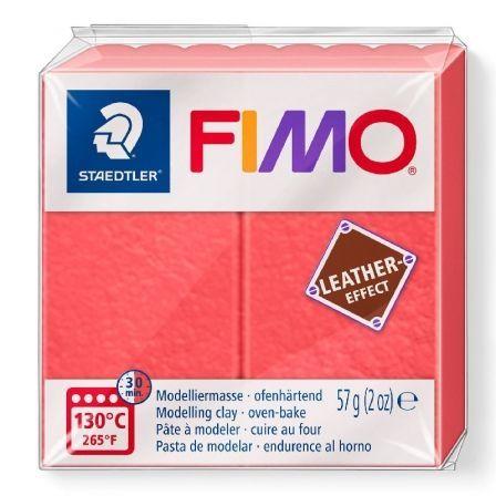 Pasta de Modelar de endurecimiento al Horno Staedtler FIMO Leather Effect/ 57g/ Sandía