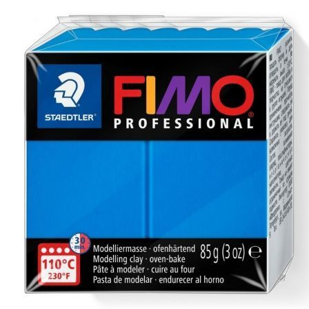 Pasta de Modelar de Secado al Horno Staedtler FIMO Professional/ 85g/ Azul Sólido