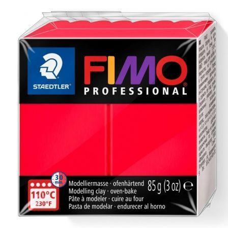 Pasta de Modelar de Secado al Horno Staedtler FIMO Professional/ 85g/ Rojo Sólido