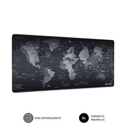 Alfombrilla Subblim 01PUW01 World XL/ 900 x 400 x 3 mm