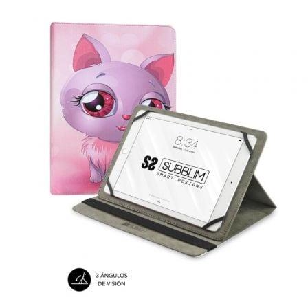 Funda Subblim Trendy Cat para Tablets de 10.1