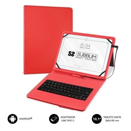 Funda con Teclado Subblim Keytab Pro USB para Tablets de 10.1\