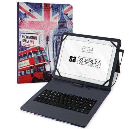 Funda con Teclado Subblim Keytab Pro USB England para Tablets de 10.1