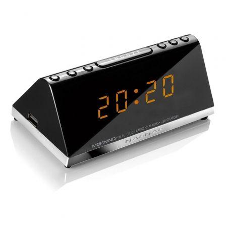 Despertador Sunstech Morning V3/ Radio FM/ Puerto de carga USB