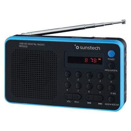 Radio Portátil Sunstech RPDS32BL/ Negra y Azul