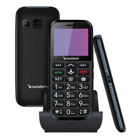 Teléfono Móvil Sunstech CEL3BK para Personas Mayores/ Negro