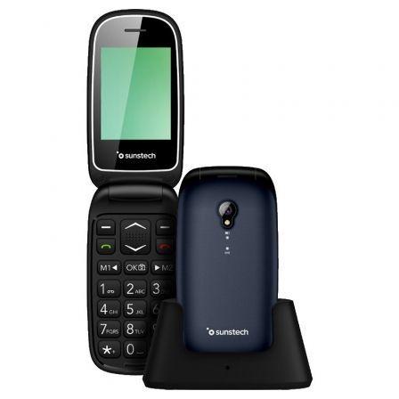 Teléfono Móvil Sunstech CELT17 para Personas Mayores/ Azul