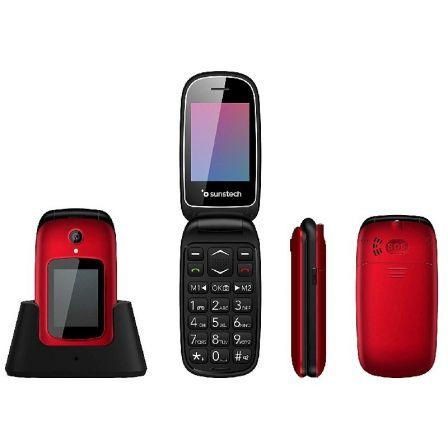 Teléfono Móvil Sunstech CELT22RD/ Rojo