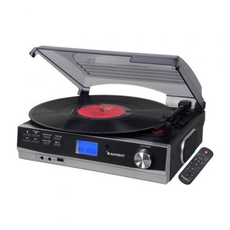 Tocadiscos Sunstech PXR23/ Bluetooth/ Radio FM/ Conversor a MP3
