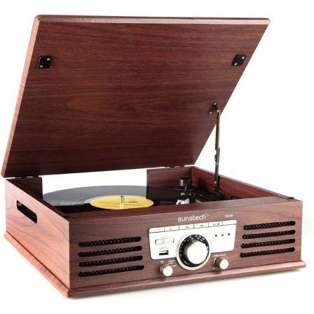 Tocadiscos Sunstech PXR3WD/ Radio FM/ Conversor a MP3
