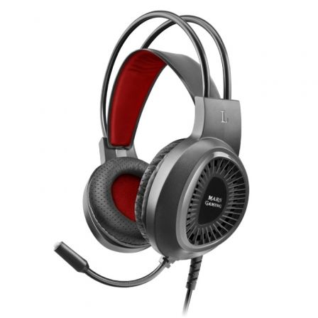 Auriculares Gaming con Micrófono Mars Gaming MH120/ Jack 3.5/ Negros