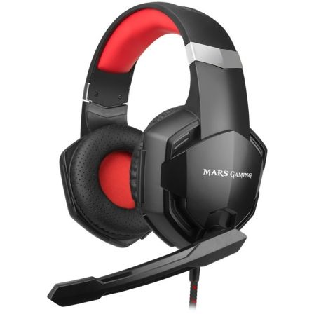 Auriculares Gaming con Micrófono Mars Gaming MHX/ Jack 3.5/ Rojos