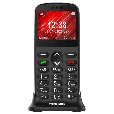 Teléfono Móvil Telefunken S420 para Personas Mayores/ Negro