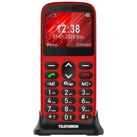 Teléfono Móvil Telefunken S420 para Personas Mayores/ Rojo