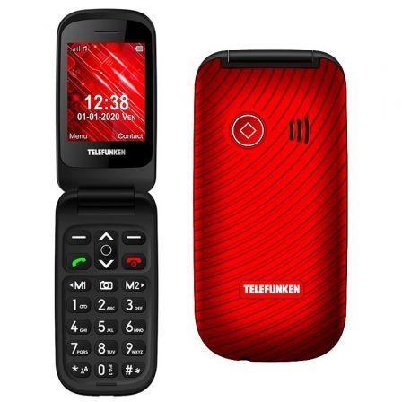 Teléfono Móvil Telefunken S440 para Personas Mayores/ Rojo