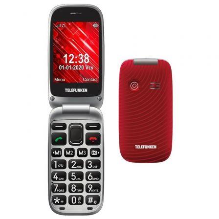Teléfono Móvil Telefunken S560/ Rojo