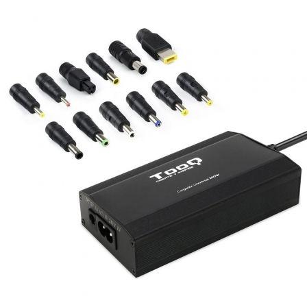 Cargador de Portátil TooQ TQLC-100BS01M/ 100W/ Manual/ 12 Conectores/ Voltaje 12-24V