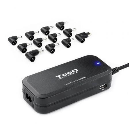 Cargador de Portátil TooQ TQLC-90BS02AT/ 90W/ Automático/ 12 Conectores/ Voltaje 12-20V