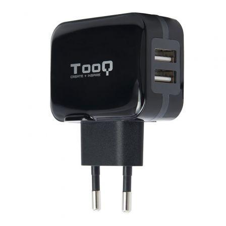 Cargador de Pared TooQ TQWC-1S02/ 2xUSB/ 17W