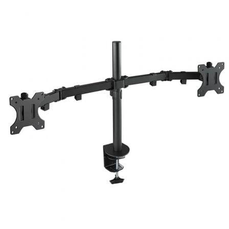 Soporte para 2 Monitores TooQ DB1232TN-B/ hasta 8kg