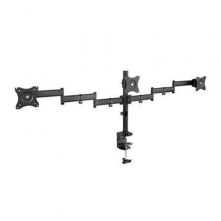 Soporte para 3 Monitores TooQ DB1327TN-B/ hasta 8kg