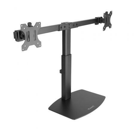 Soporte para 2 Monitores TooQ DB1727TN-B/ hasta 6kg