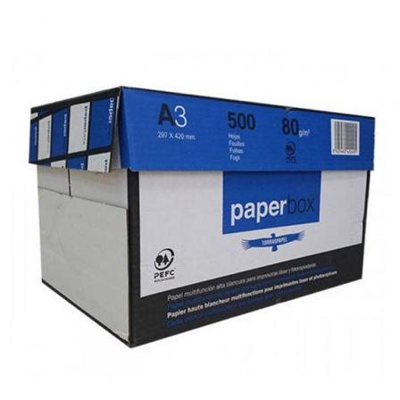 Papel Torras Paperbox/ DIN A3/ 80g/ 5 x 500 Hojas