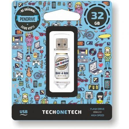 Pendrive 32GB Tech One Tech Beers & Bytes San Midrive Cerveza USB 2.0