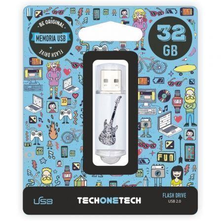 Pendrive 32GB Tech One Tech Crazy Black Guitar USB 2.0