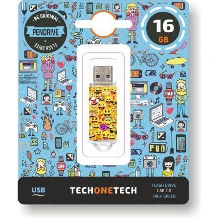 Pendrive 16GB Tech One Tech Emojis USB 2.0