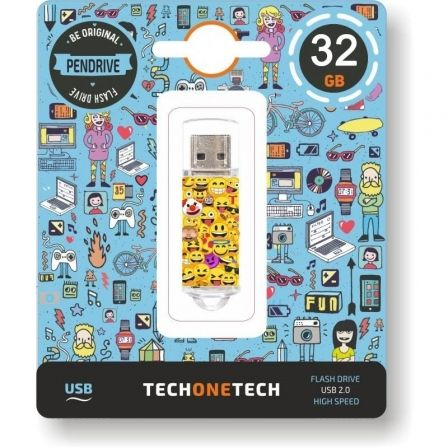 Pendrive 32GB Tech One Tech Emojis USB 2.0