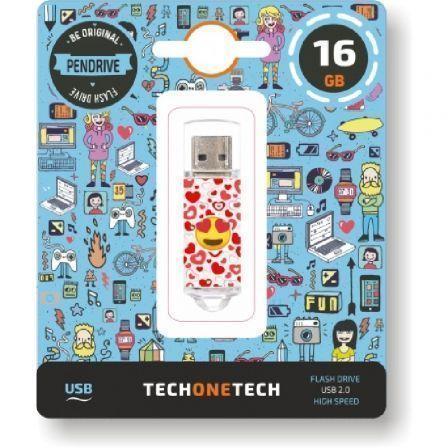 Pendrive 16GB Tech One Tech Emojis Heart Eyes USB 2.0