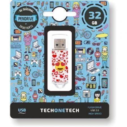 Pendrive 32GB Tech One Tech Emojis Heart Eyes USB 2.0
