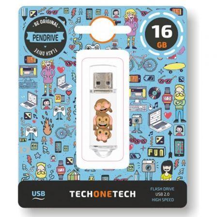Pendrive 16GB Tech One Tech Emojitech No-Evil Monkey USB 2.0