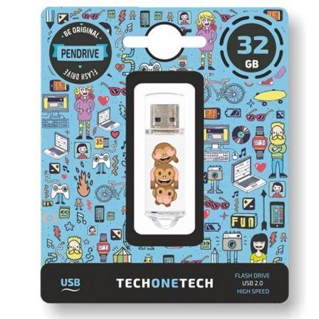 Pendrive 32GB Tech One Tech Emojitech No-Evil Monkey USB 2.0