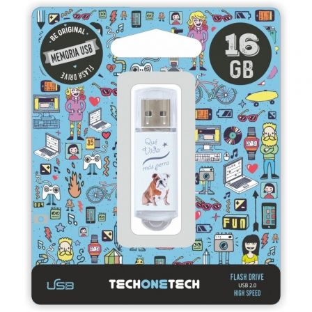 Pendrive 16GB Tech One Tech Que vida mas Perra USB 2.0