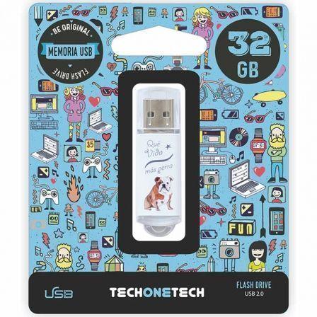 Pendrive 32GB Tech One Tech Que vida mas Perra USB 2.0